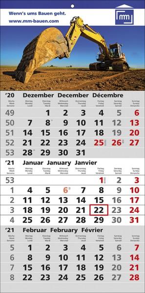 3-Monats-Wandkalender Smart