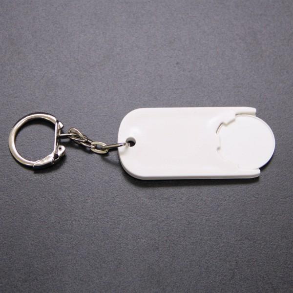 Schlüsselanhänger Chiphalter mit Chip rund Weiß