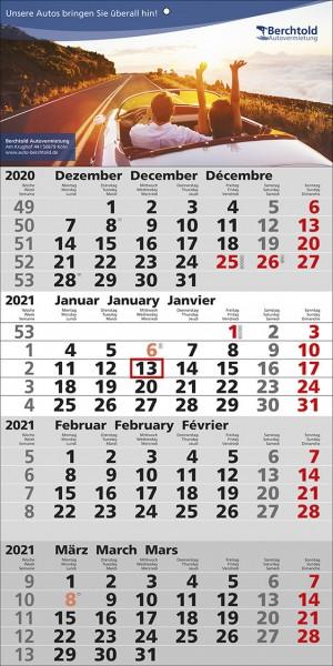 4-Monats-Wandkalender Quattro