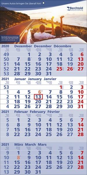4-Monats-Wandkalender Quattro b