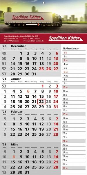 4-Monats-Wandkalender Memo