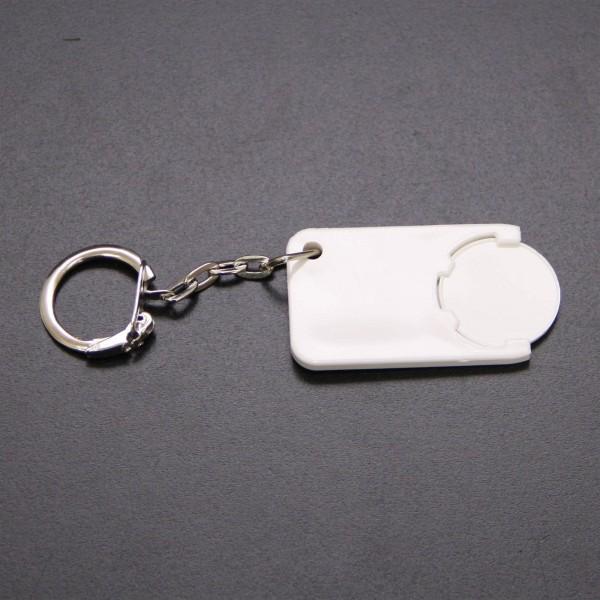 Schlüsselanhänger Chiphalter mit Chip Weiß