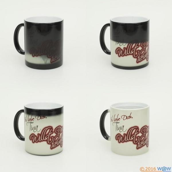 Kaffeebecher Magic Farbwechsel