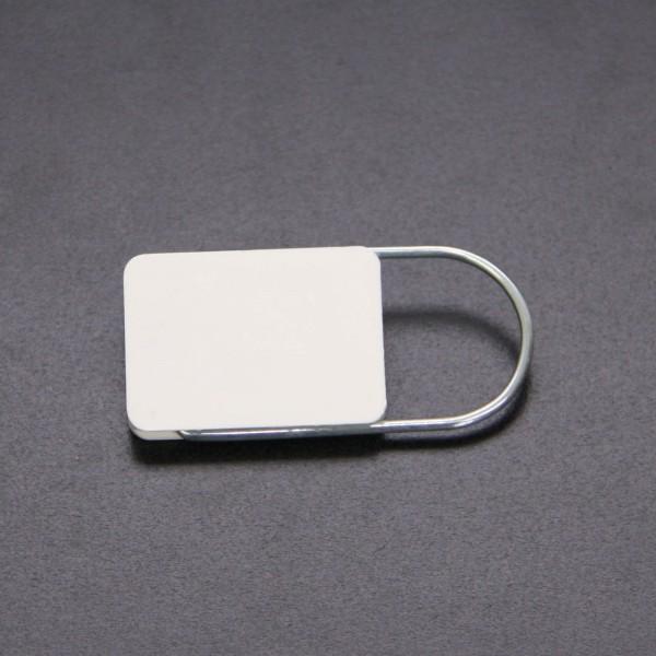 Schlüsselanhänger einfach Weiß