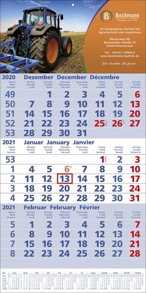 3-Monats-Wandkalender TOP 12 b